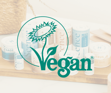 Vegan certified logo Scence products
