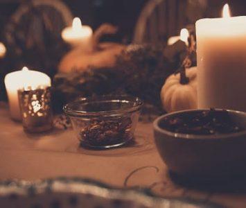 autumnal candle scene